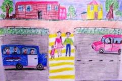 конкурс рисунков на тему дорожной безопасности (23)