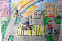 конкурс рисунков на тему дорожной безопасности (26)